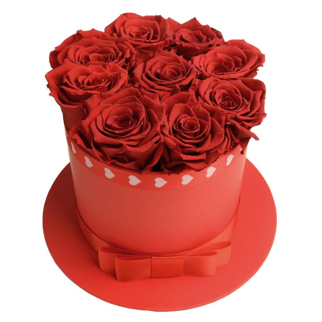 Scatola cappello rose